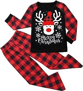 Fossen MuRope 2 Piezas Pijamas Navidad Familia 2020 Papá Mamá Niño Pijama Familiar a Juego, Pijamas Navidad Familiares Igu...