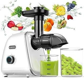 Licuadora Prensado en Frio, WOWDSGN Licuadora para Verduras y Frutas con 2 Velocidades, 150W, 50~110Rpm, con Función Inver...