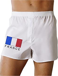 French Flag - France Text Boxers Shorts