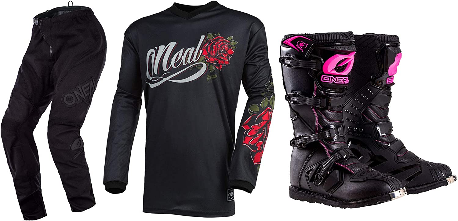 Oneal Womens Super special New Shipping Free Shipping price Element Roses Jersey Pant PNT MED Combo Boots 1-2