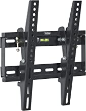 "VonHaus 17-37.5"" Tilt TV Wall Mount Bracket with Built-In Spirit Level for LED, LCD, 3D, Curved, OLED, Plasma, Flat Screen Televisions - Super Strong 75kg Weight Capacity"
