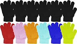 12 Pairs Kids Warm Winter Gloves, Stretchy Soft Comfortable Knit, Cute Bulk Pack (Assorted Pack #1, Ages 2-6)