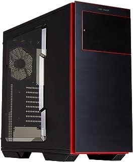 In Win 707 - Caja de Ordenador de sobremesa (E-ATX/ATX/Micro-ATX, USB), Color Negro y Rojo
