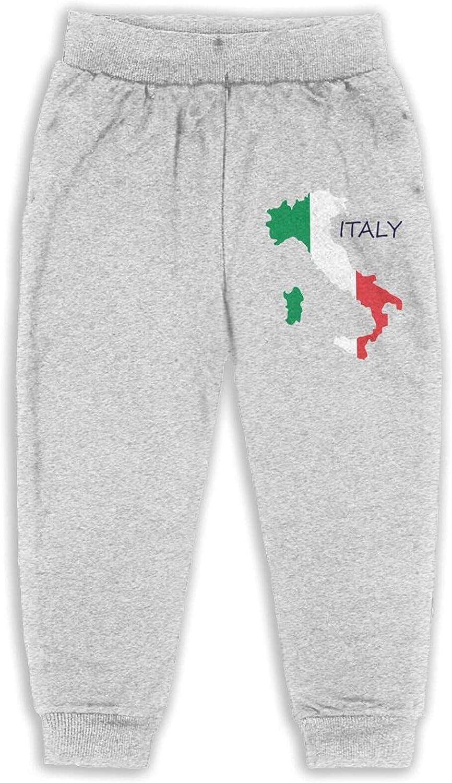 Thtfhe Unisex Kids Italy Map Flag Pants Cotton Training Pants Soft Pants for Girls