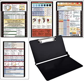 Foldable Clipboard, Nursing and Medical Edition, 2 in 1 Lightweight Aluminum Construction for Doctors, Nurse or Medical Students (Black)