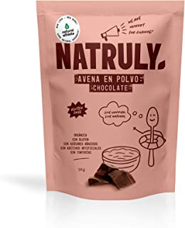 comprar comparacion NATRULY Harina de Avena Sabor Chocolate, BIO Avena en Polvo Sin Azúcar, Sin Gluten, 1 KG (antes Natural Athlete)