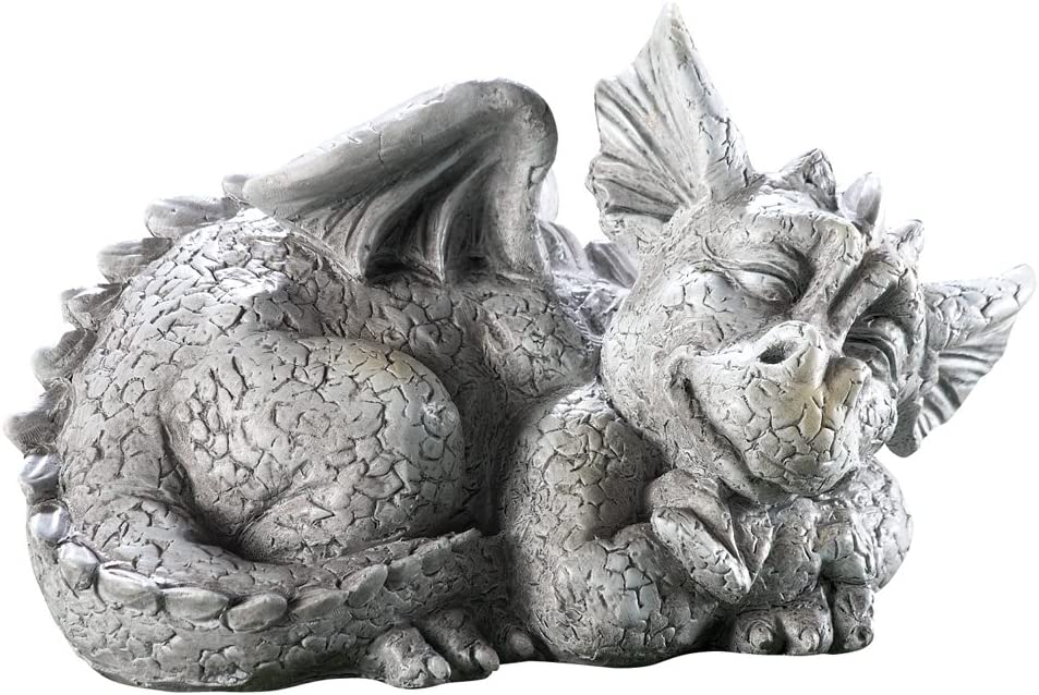 Ct Shipping included Discount Inexpensive Store Mythical Sleeping Garden Sculpture Dragon Baby
