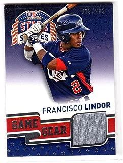 2015 Panini Stars Stripes Francisco Lindor #38 NM Near Mint MEM 9/299