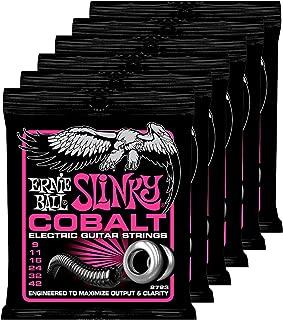 6 Sets of Ernie Ball 2723 Cobalt Super Slinky Elecric Guitar Strings