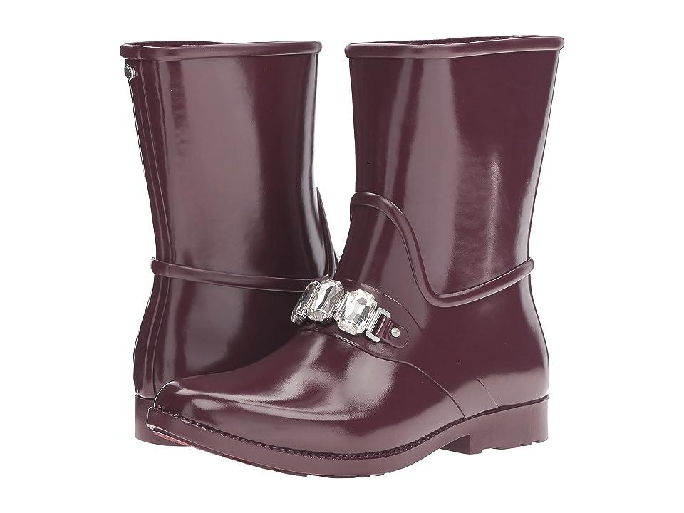 MICHAEL Michael Kors Leslie Rain Bootie (Plum Rubber/Stones) Women