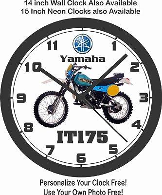 amazon 1968 suzuki tm250 motocross bike wall clock free usa 1968 Honda 450 Scrambler yamaha it175 motorcycle wall clock