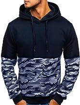 Chaqueta Niños/Hombres Sudaderas con Capucha Camuflaje Botón Pull-Over Manga Larga Encapuchado Camisa de Entrenamiento Tops Blusa Jersey para Hombre