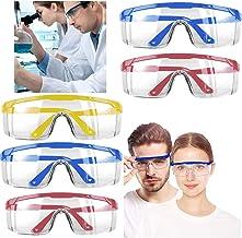 نظارات أمان من 5 قطع مع حماية جانبية متكاملة - نظارات واقية للعين شفافة مقاومة للضباب ومقاومة للخدش