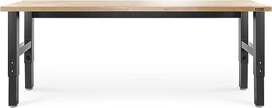 Gladiator GAWB08HWEG Adjustable Hardwood Workbench, 8'