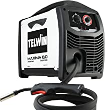 Telwin Maxima 16085 Synergic draadlasapparaat MIG-MAG/FLUX/BRAZING met invertertechniek 230 V, Maxima 160, wit