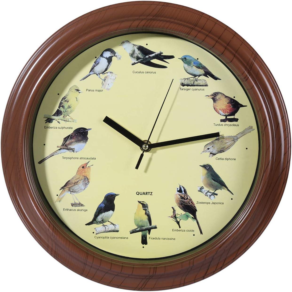 Lo mejor para los amantes de los pájaros: Reloj de Pared Melodía Ave Out of the blue