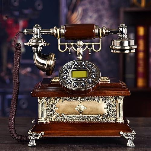 Téléphone Filaire Accueil Téléphone Fixe Vintage Décoratif Téléphones rougeary Design (Couleur   1)