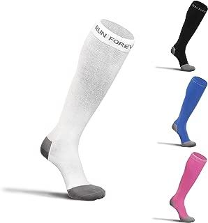Run Forever Sports Compression Socks for Men & Women – 20-30mmHg Medical Grade Graduated Stockings