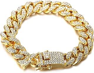 Halukakah ● BLING ● Men's 18k Real Gold/Platinum Plated Dense Diamond Set Big Miami Cuban Chain Necklace 18