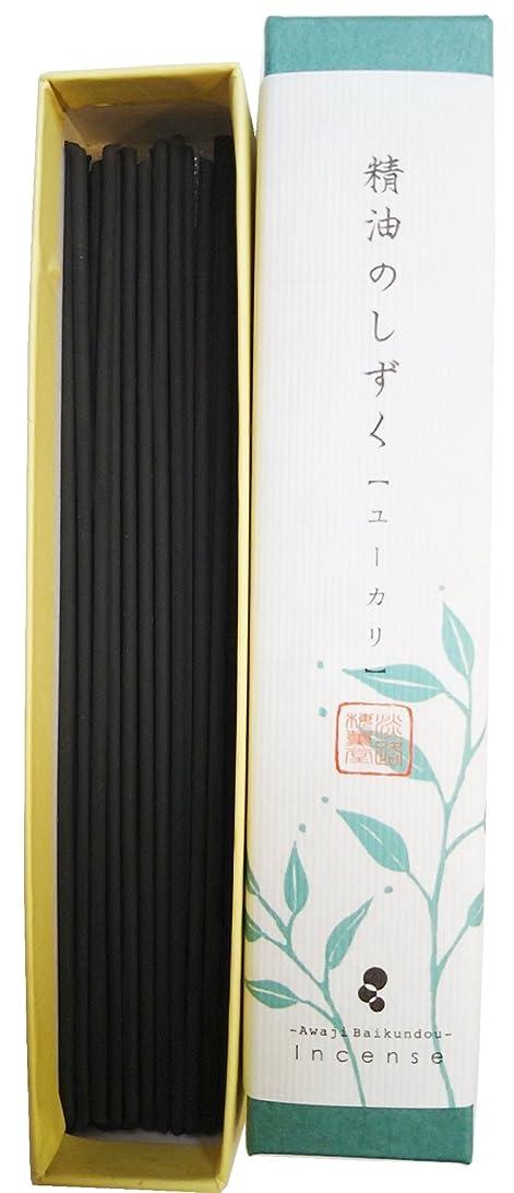 塊に構成員淡路梅薫堂の煙の少ないお香 精油のしずく ユーカリ (9g)