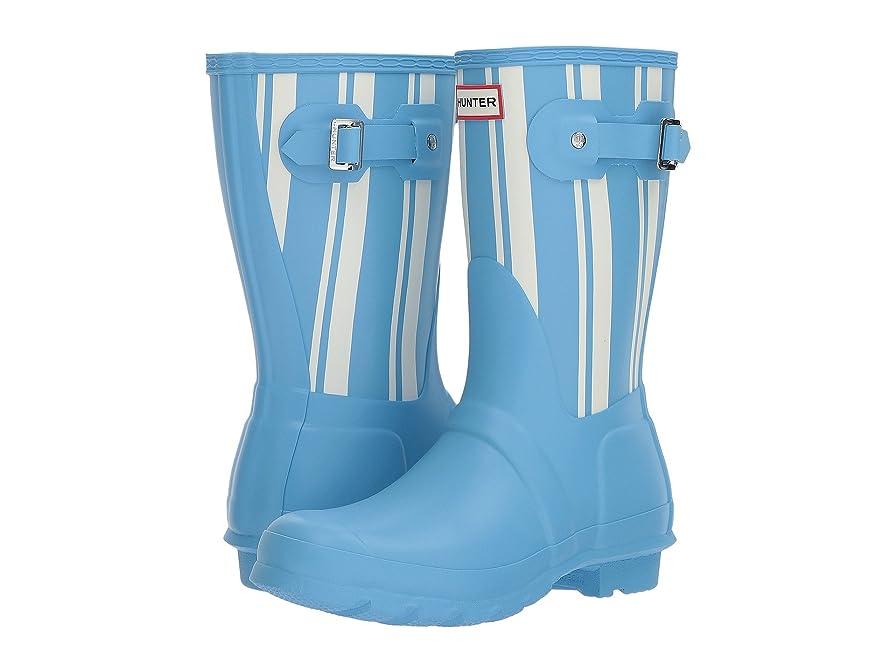 自宅で不完全な可聴[ハンター] レディース ブーツ&レインブーツ Original Garden Stripe Short Rain Boots [並行輸入品]