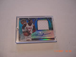 Autographed Hakeem Olajuwon Jersey - 2013 Panini Spectra Hall Of Fame 9 20 Card - Panini Certified - Basketball Autographed Game Used Cards