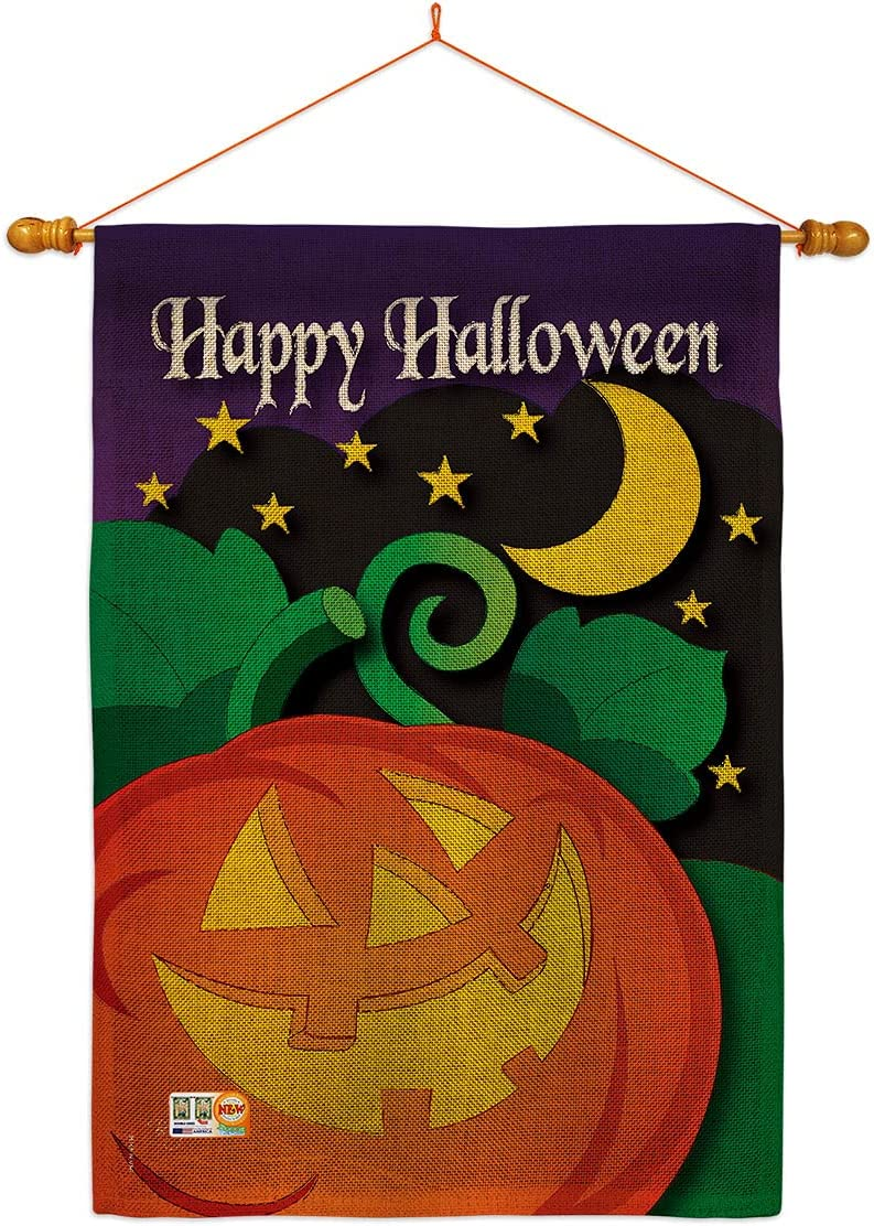 Breeze Decor Halloween Night House Flag Tri Witch gift Indianapolis Mall Fall Set Dowel