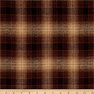 Robert Kaufman Kaufman Mammoth Flannel Plaids Espresso Fabric By The Yard
