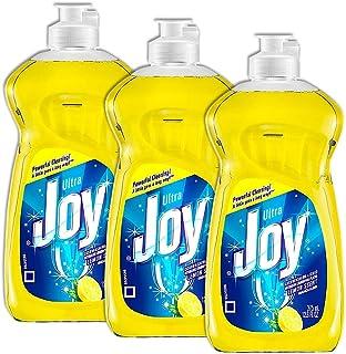Joy Ultra Dishwashing Liquid, Lemon Scent 12.60 oz (Pack of 3)