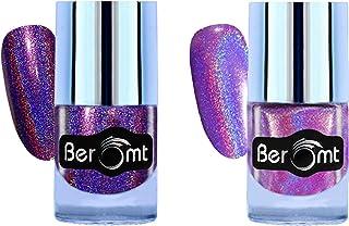 Beromt Holographic Nail Polish | Rainbow Multi Chrome Nail Art Combo Pack of 2-502,509
