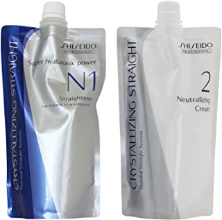 Shiseido Crystallizing Straight For Natural to Sensitized hair(old version : Fine or Tinted Hair) N1+2 400g(a piece)