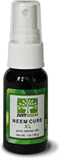 Neem Oil - Neem Cure XL - Natural - Best on Acne, Psoriasis, Eczema, Roseacea, Cold Sores, Athlete's Foot, and more! - Antiviral, Antifungal, Antibacterial - 1 oz