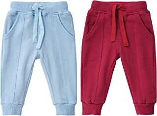 Toddler Baby Boys Girls Joggers Pants Cotton Soild Color Sweatpants with Drawstring Autumn Winter...