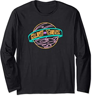 Rick & Morty Blips And Chitz Neon Logo Long Sleeve T-Shirt
