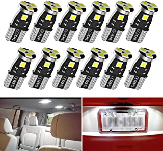 T10 194 LED Car Bulbs,192 LED Car Bulbs,168 LED Lights Bulb, 5smd 6000K White Led for Car Interior Dome Map Door Courtesy ...