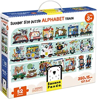 Banana Panda Alphabet Train Suuuper Size Puzzle For Kids Ages 3 years & Up, Multicolor