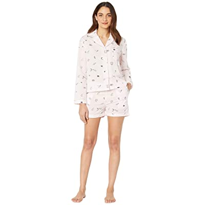 Only Hearts Sleep To Dream Cotton Shorty Pajama in Sack (Pink) Women