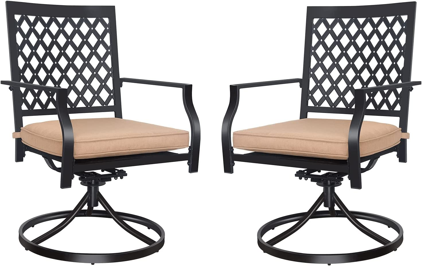 Patio Dining Chairs Time sale 2 Pcs MEOOEM Outdoor Swivel Clearance SALE Limited time Rocker Ch Metal