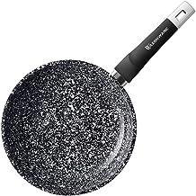 WaxonWare 8 Inch Granite Ceramic Nonstick Frying Pan & Nonstick Skillet, Anti-Warp Non Toxic PTFE APEO PFOA Free Nonstick ...