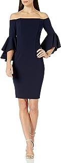Calvin Klein Women's One Shoulder Solid Sheath Dress