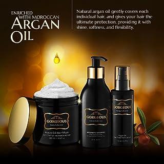 gorgeous 3 Pc Premium Hair Repair Set Argan Oil Shampoo mask Hair Protection oil