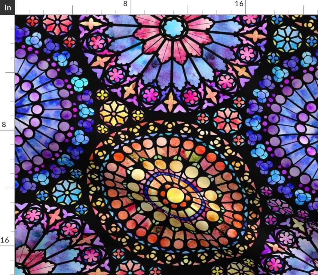 正規品スーパーSALE×店内全品キャンペーン Spoonflower Fabric - Painted Rose C Large Watercolor Color Multi セール