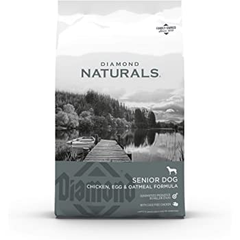 Diamond Naturals Dry Senior Dog Food Formula Made with Chicken, Egg and Oatmeal with Protein, Probiotics, Superfoods, Antioxidants to Support Overall Health and Wellness in Older Dogs