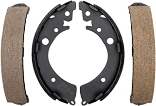 Detroit Axle - Rear Ceramic Brake Shoes for 96-05 Honda Civic - [82-89 Accord] - 93-95 Civic (EX Coupe ONLY) - [93-95 Civic (Sedan Models or DX Coupe Models w/Automatic Transmission ONLY)] - 07-08 FIT