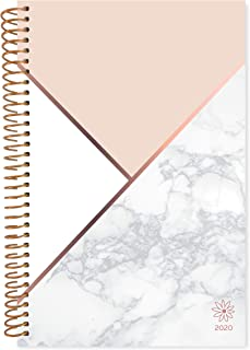 "bloom daily planners 2020 Calendar Year Day Planner (January 2020 - December 2020) - 6"" x 8.25"" - Weekly/Monthly Agenda Organizer Book with Tabs & Flexible Soft Cover - Color Blocking Marble"