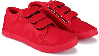 Super Men Red Synthetic Casual Sneakers,Loafers,Sports,Boots Shoes