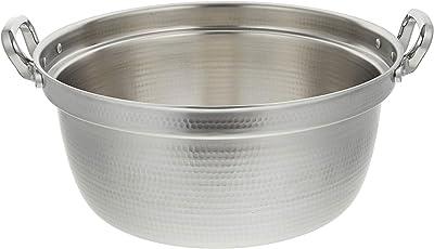 アカオアルミ DON打出円付鍋 48cm アルミニウム合金、ハンドル(アルミダイキャスト) 日本 AEV02048