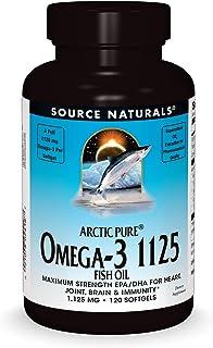 Source Naturals ArcticPure Omega-3 Fish Oil 1125mg Ultra Potency Maximum Strength EPA + DHA for Heart, Joint, Brain & Immu...