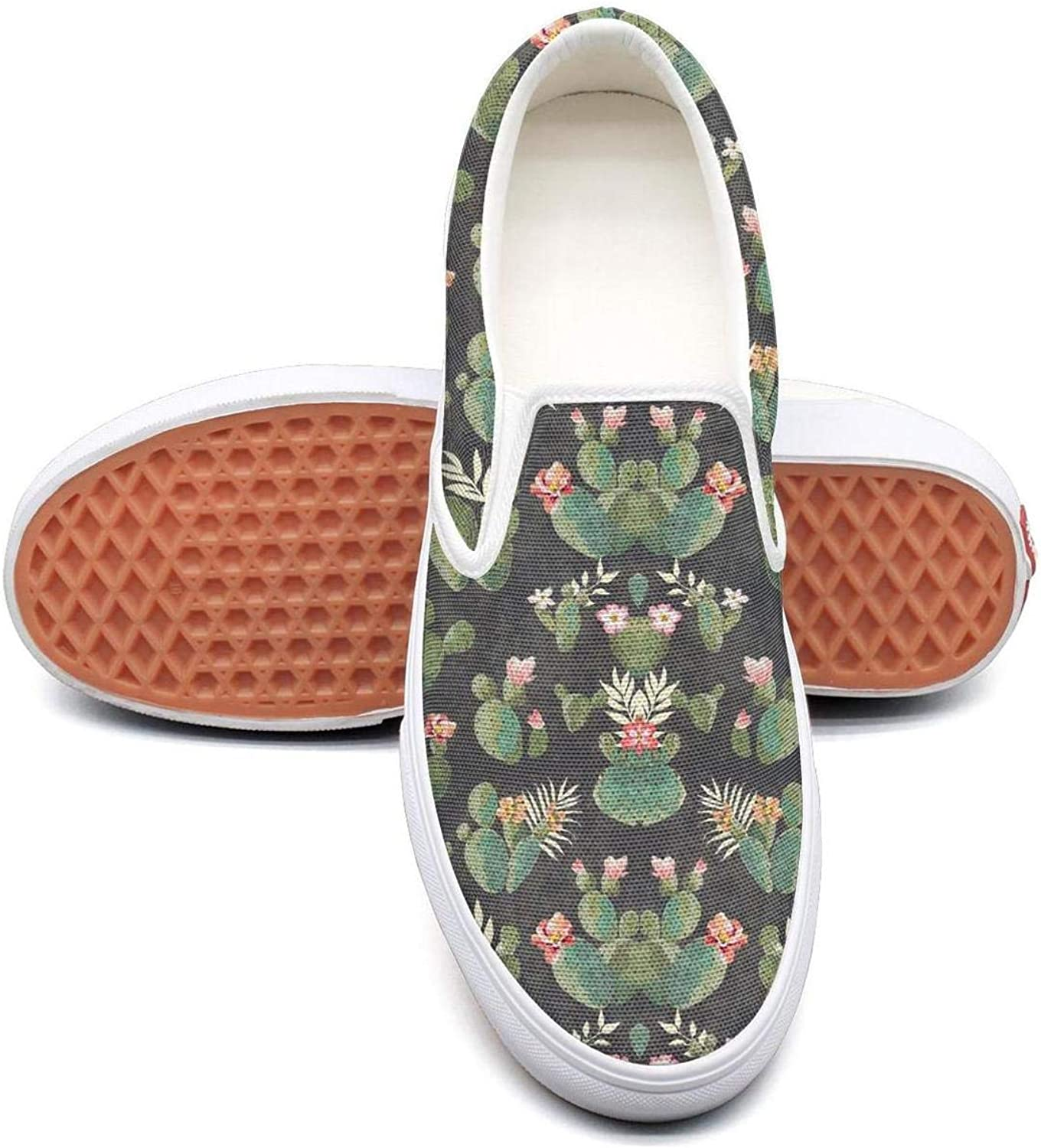 SOFIE MARTIN Flamingo Flowers and Cactus Young Women Leisure shoes Low Top Lightweight Breathable