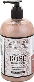 Archipelago Charcoal Rose Hand Wash, 17 Fl Oz